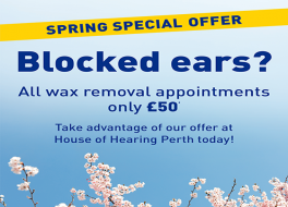 Spring wax offer for Perth clinic House of Hearing